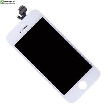 15S-0014 Дисплей в сборе с тачскрином для Apple iPhone 5S (Белый) купить в новосибирске. adutor.ru
