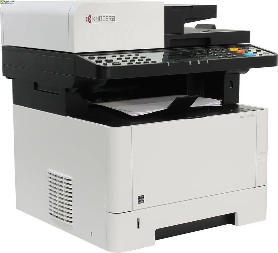 Лазерный копир-принтер-сканер-факс Kyocera M2540dn (А4,40ppm,1200dpi,512Mb,USB, Net,автоподатчик,тон купить в новосибирске. adutor.ru