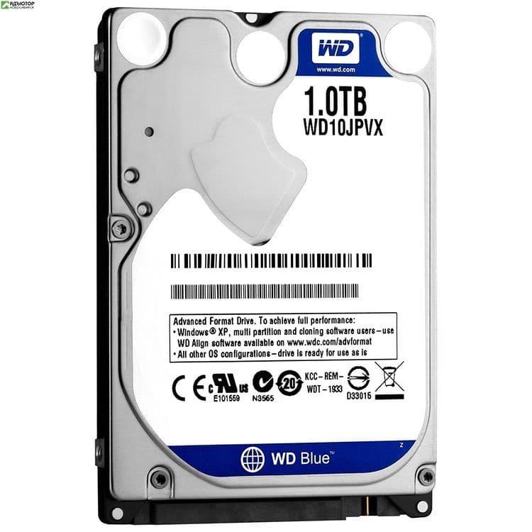 """Жесткий диск WD Original SATA-III 1Tb WD10JPVX Blue (5400rpm) 8Mb 2.5""""  купить в новосибирске. adutor.ru"""