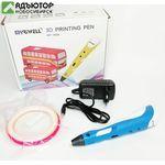 3D ручка Myriwell RP-100A 6+ синяя (комплект ABS) купить в новосибирске. adutor.ru