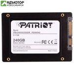 """Твердотельный накопитель (SSD) Patriot 240Gb BURST, 2.5"""", SATA3 (PBU240GS25SSDR) купить в новосибирске. adutor.ru"""